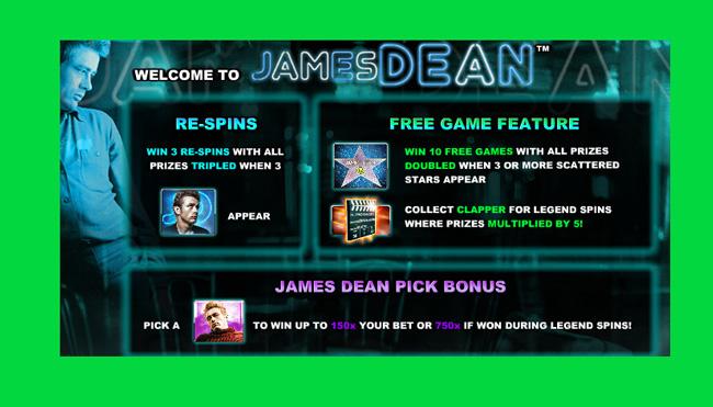 James Dean Free Pokies Slot Game Review