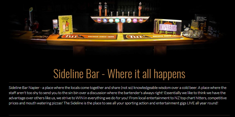 Sideline Bar Napier Review & Guide