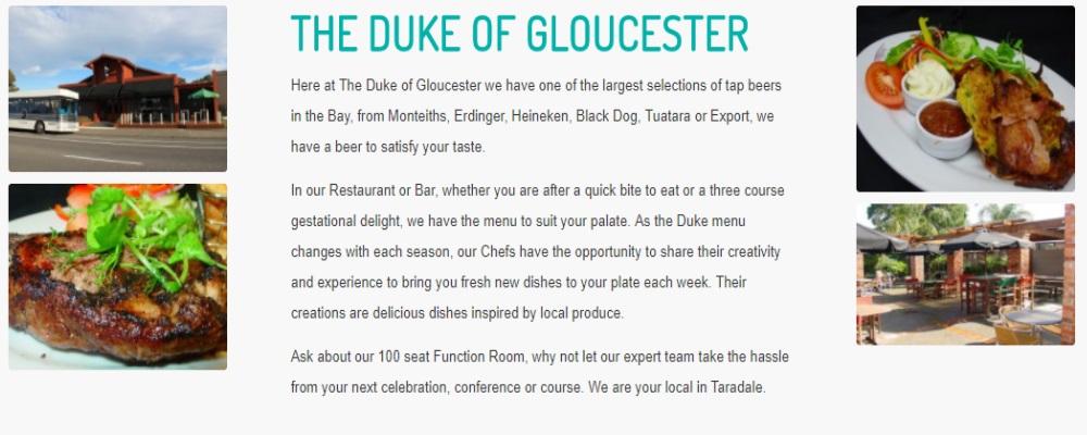 The Duke of Gloucester Napier Restaurant and Bar Review