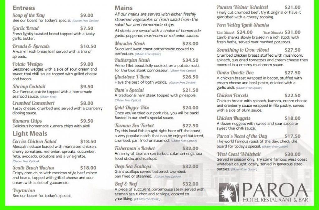 Paroa Hotel Restaurant and Bar Review