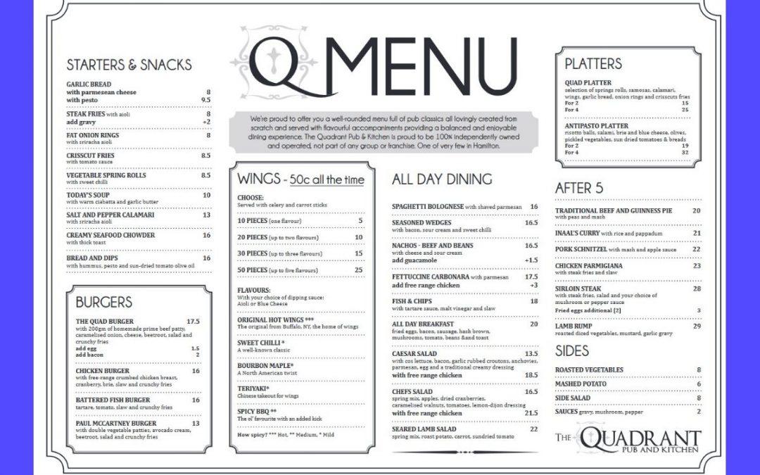 The Quadrant Pub and Kitchen Hamilton Review