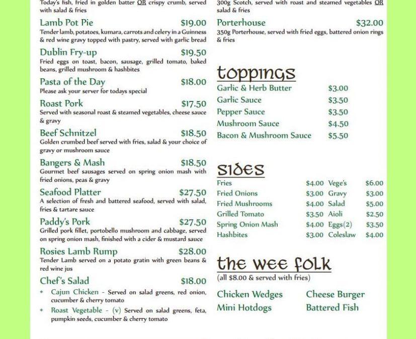 Rosie O'Grady's Irish Pubs New Zealand