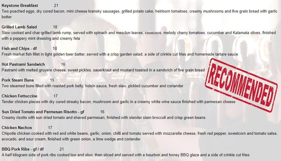 Keystone Bar and Restaurant Hamilton Review