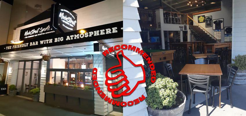 Mainstreet Sports Bar Rangiora Guide