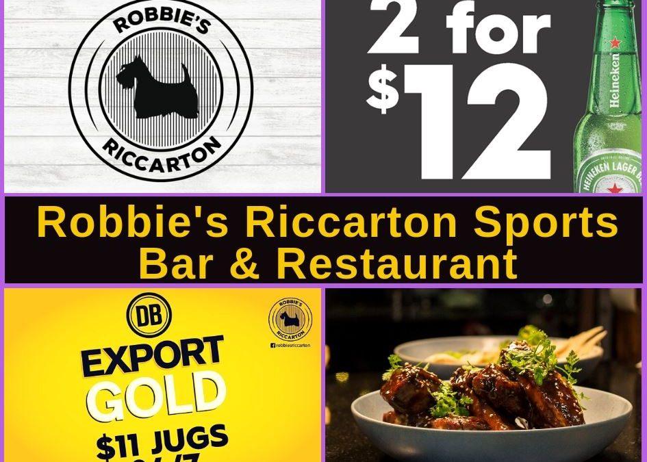Robbie's Bar Riccarton Guide